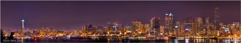 Midnight Seattle: Seattle Skyline